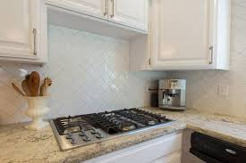 White Subway Tile Kitchen Backsplash Square Shape Silver Kitchen - Square tile backsplash