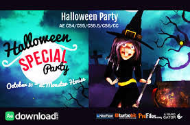 halloween party wish videohive project free download free