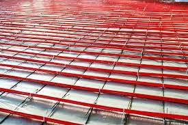 heated floor installation stock photo image 88015494