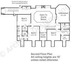 2nd Floor Plan Design Deerfield Southern Floor Plans Luxury House Plans