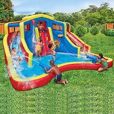 Backyard Water Slide Inflatable by Waterslide Pool Park Backyard Bounce House Inflatable Water Slide