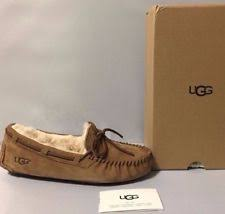 ugg moccasin slippers sale ugg s dakota moccasin chestnut 7 b m us ebay