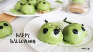 aiya u0027s blog halloween matcha cheesecake slime monsters