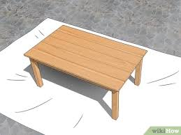 how to stain pine table 3 ways to finish pine for outdoor use wikihow