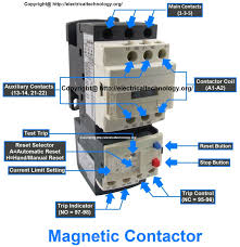 contactor switch wiring diagram components