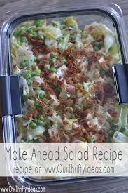 Make Ahead Dinner Party - make ahead salad sarah salad recipe our thrifty ideas
