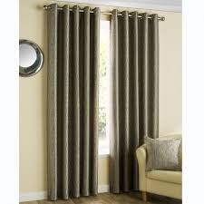 Eclipse Brand Curtains Textured Weave Eyelet Curtains Mocha