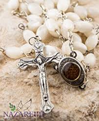 rosary store catholic rosary white clear necklace with holy