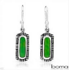boma earrings boma green turquoise silver earrings gift and accessories online