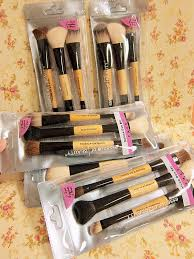essence of beauty 3 in 1 deluxe duo set make up brushes cosmetic