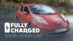 nissan leaf replacement battery cost longer range 30kwh nissan leaf fully charged youtube