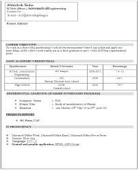cv format for electrical engineer freshers dockers luggage spinner sle resume for freshers sle resume format for finance