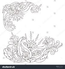 henna tattoo doodle vector elements mehndi stock vector 321204338