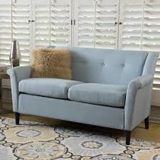 Modern Loveseat Sofa Living Room Modern White Loveseat Design With White Fabric Linen