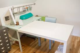 ikea craft table hack an ikea hack craft desk makeover one dog woof
