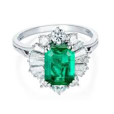 vintage emerald engagement rings emerald engagement ring