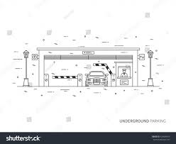 Parking Building Floor Plan Underground Parking Terminal Paygate Tourniquet Transportation