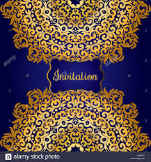 Gold Invitation Card Rich Gold Invitation Card In The Indian Style Bohemian Cards With