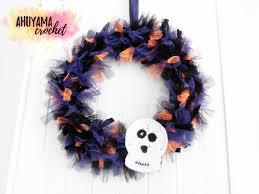 crochet halloween wreath corona de halloween ahuyama crochet