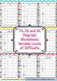 diagraphs worksheets ch sh and th free phonics worksheets