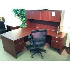 Office Furniture With Hutch by New Mahogany L Shape Desk With Hutch Sk Office Furniture