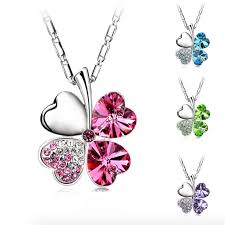 necklace clover images Fashionable four leaf clover necklace great gifts store png