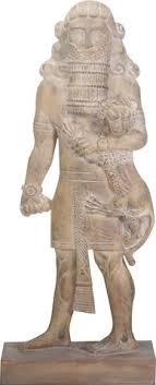 lion statue gilgamesh king of uruk epic holding lion statue 8 75h for