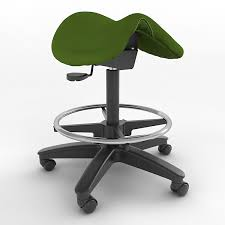 model ergonomic saddle stool height