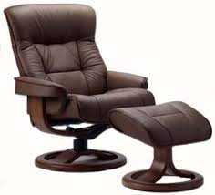 Brown Leather Chair With Ottoman Fjords 775 Bergen Ergonomic Leather Recliner Chair Ottoman