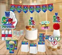 pj masks party supplies package cupcake toppers banner stickers