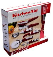 Red Kitchen Utensil Set - kitchenaid red 6 pc kitchen gadget utensils set culinary cooking tools