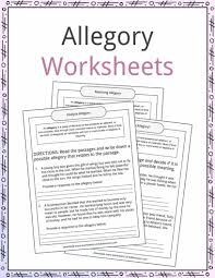 allegory examples definition and worksheets kidskonnect