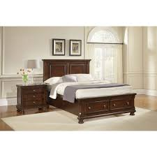 reflections merlot bedroom king mansion storage bed bernie and