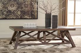 Ashley Outdoor Furniture Campfield Coffee Table T911 By Ashley Furniture Cross Pattern