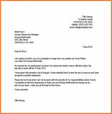 4 resignation letter due to personal reasons with notice period
