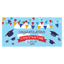 congratulations graduation banner blue sky class of 2017 graduation banner personalized party
