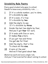 free divisibility rules chart divisibility rules charts and