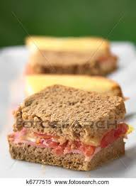 baked canapes stock image of croque monsieur baked wholewheat and white toast