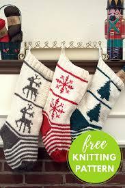 knitting pattern for christmas stocking free christmas stocking trio free knitting pattern blog nobleknits