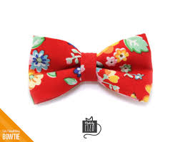 floral bowtie floral cat bow tie girl cat collar bow tie kitten bow