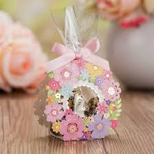 baby shower return gifts 50pcs lot european order colorful flower favor lace hollow