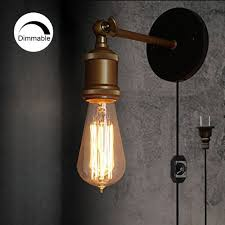industrial style ceiling lights stglighting dimmable 1 light wall sconces plug in lighting vintage
