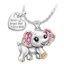you necklace images Granddaughter never forget i love you engraved elephant pendant 0,0,0