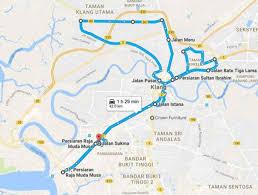 Marathon Route Map by Home Page Klang City Marathon 2017
