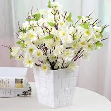 Artificial Trees Home Decor Flor De Pessegueiro Branco Flores Pinterest