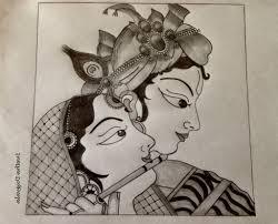 radha krishna pencil sketches pencil art drawing