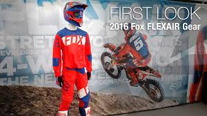 fox racing motocross 2016 fox flexair gear first look motousa youtube