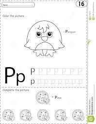 Free Alphabet Tracing Worksheets Cartoon Pizza And Penguin Alphabet Tracing Worksheet Writing A