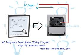 how to wire a frequency meter hz hertz electrical online 4u