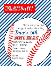 baseball birthday invitations vertabox